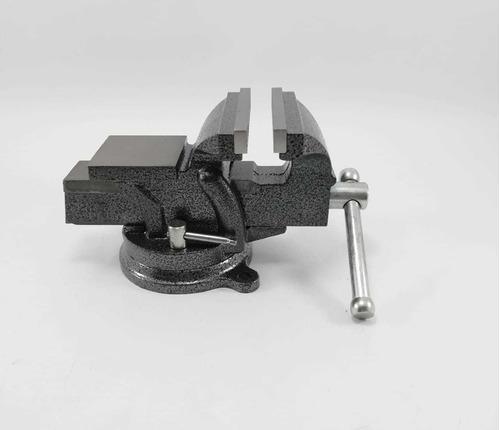 prensa de banco 6  cabeza giratoria profesional pretul
