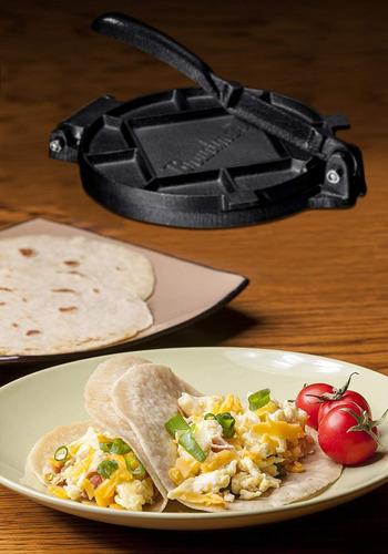prensa de tortillas hierro fundido 18 cm