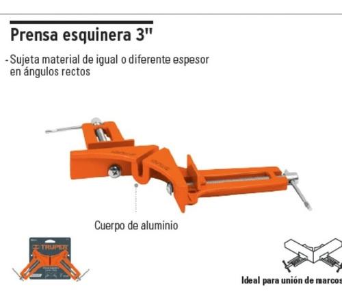 prensa esquinera truper 3  pulgadas aluminio