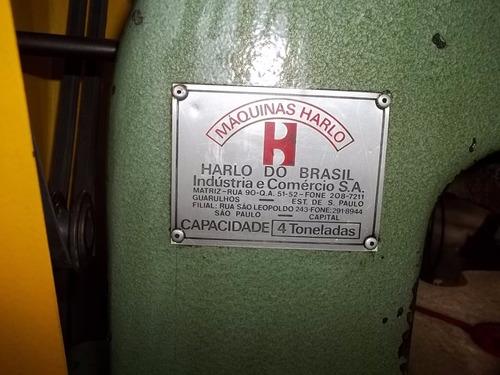 prensa excêntrica de bancada harlo capac. 4 tons