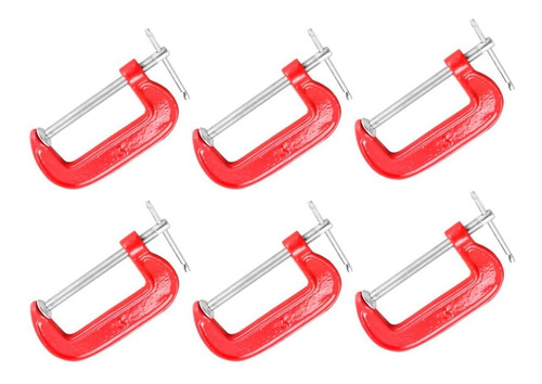 prensa g o c de 3 pulgadas set 6 unidades carpinteria fierro