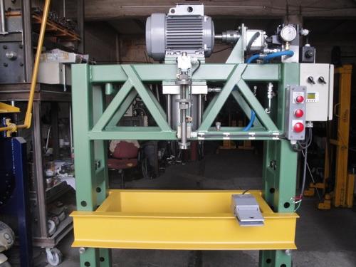 prensa hidraulica 40 tons. controlada por plc