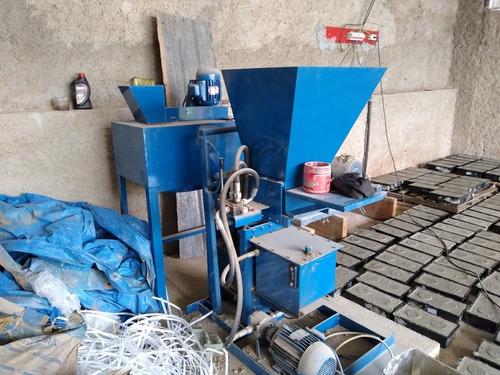 prensa hidráulica de tijolos ecológicos