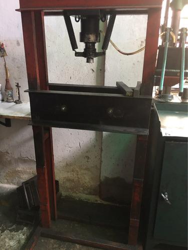 prensa hidráulica taller 30 ton. doble bomba envios interior
