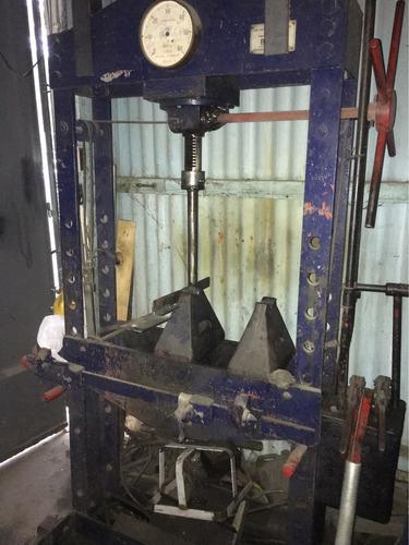 prensa hidráulica taller 60ton. mesa móvil doble bomba
