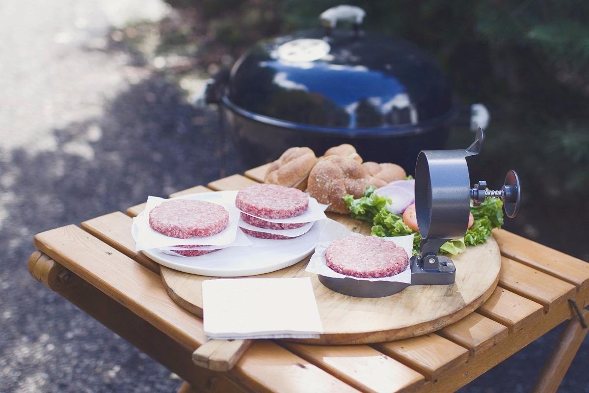 Prensa plancha para hacer hamburguesas sencilla weston - Plancha para hamburguesas ...
