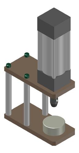 prensa pneumática para ilhos, rebites, botões  projeto