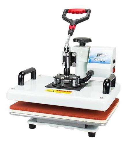 prensa sublimadora nagano nms80 branca e vermelha 110v