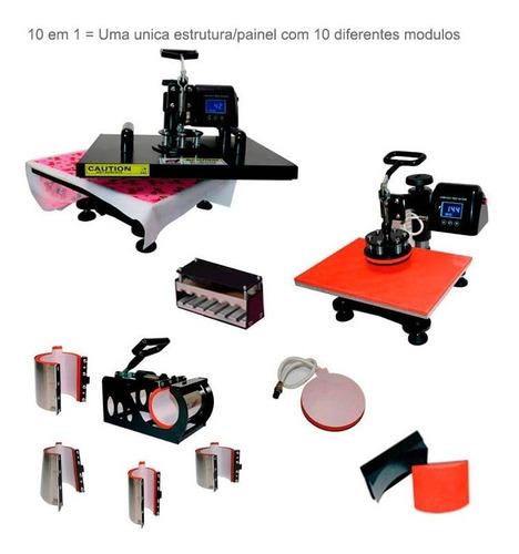 prensa termica 10 em 1 a3 a4 + impressora epson l3110 220v