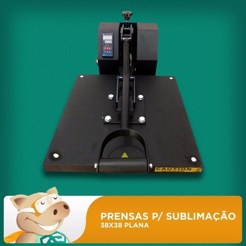 prensa térmica 38x38 plana sublimação envio imediato!!