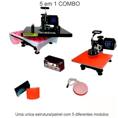 prensa termica 5 em 1 38x38cm 220v + impressora epson l380