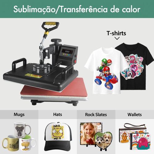 prensa térmica 8 em 1 sublimação camisetas caneca bone prato