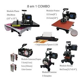 Prensa Termica 8em 1 38x38cm Caneta 220v + Impressora L120