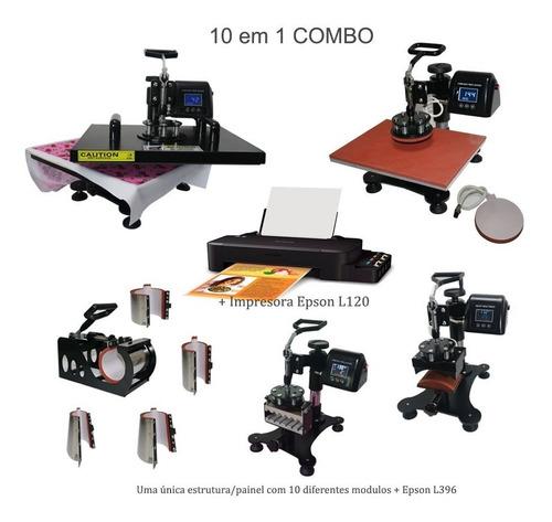 prensa termica a3 a4 10em 1 + impressora epson l120 110v