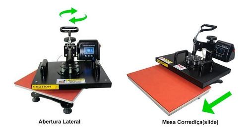 prensa termica a3 a4 32x45cm 12em1 gaveta mesa corrediça 220