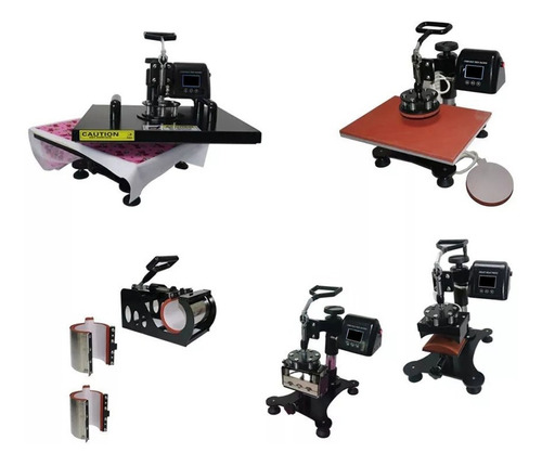 prensa termica plana 8em1 38x38cm 220volt + impressora l3150