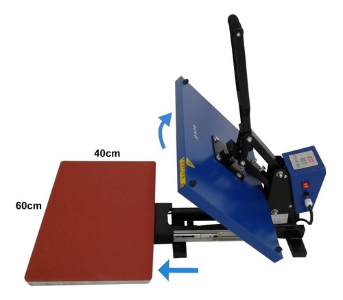 prensa termica plana gaveta 40x60 camiseta chinelo capa 220v