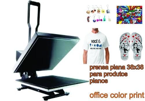 prensa térmica plana sublimação transfer camisetas 38x38