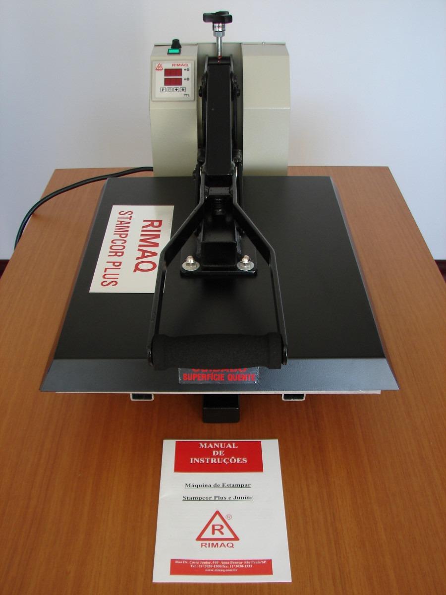 prensa térmica rimaq - stamp cor plus - máquina estampar. Carregando zoom. 2ef70b1f6f0e1