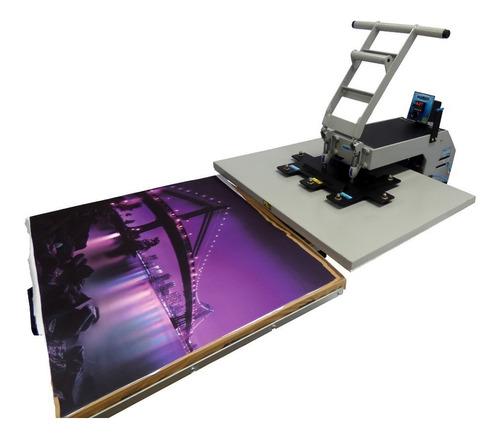 prensa térmica sublimação total 85x75 digital 100% nacional
