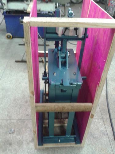 prensa tijolo ecológico 12,5x25 hidraulica manual 6ton