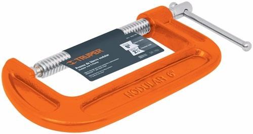prensa tipo g truper 6 pulgadas 152.4 mm carpintero soldador