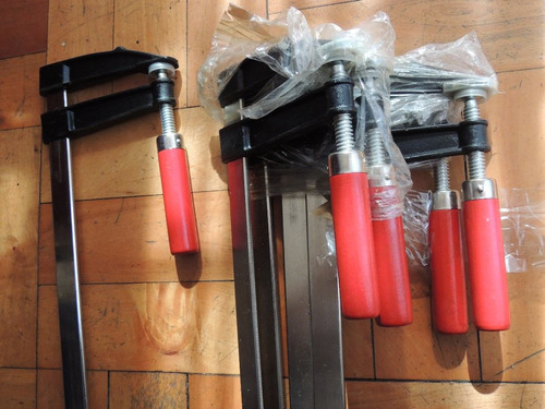 prensas sargento. 4 unidades. 12cm x 120cm