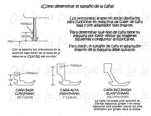 prensatelas cortador lateral overlock pie máquina coser #193