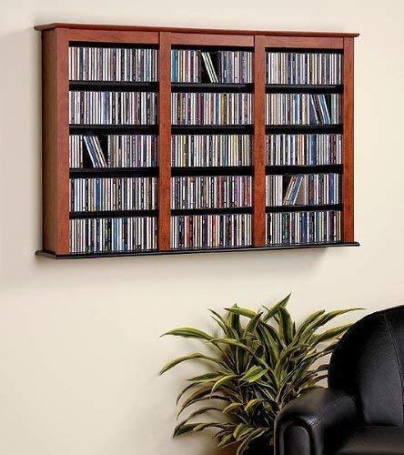 prepac gabinete de almacenamiento para cds madera