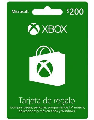 prepago $200 mxn (xbox) + juego (en cuenta)