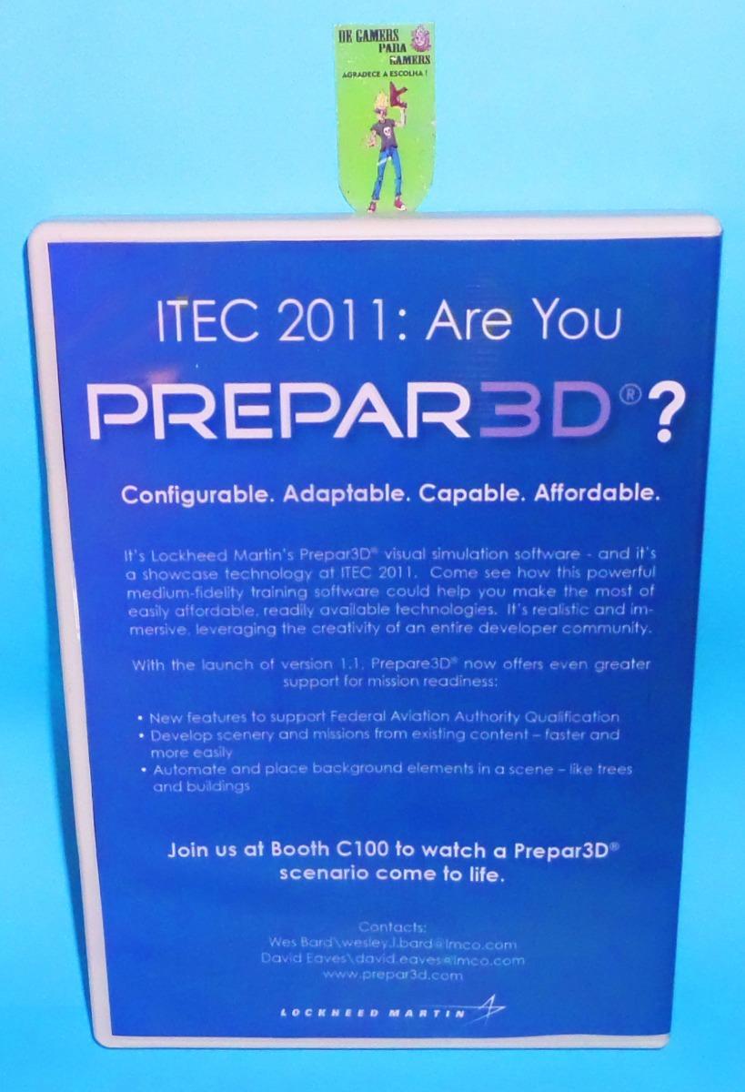 Prepar 3d V4 Professional Plus Simulador Pc Dvd - Frete 8 R$