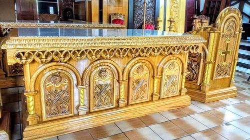 presbitérios completos para igrejas - altares, púlpitos, etc