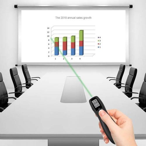 presentador puntero laser verde contador vibrador powerpoint