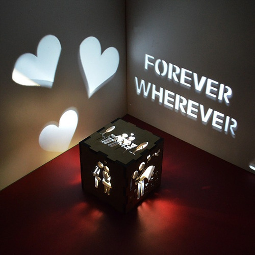 presente criativo personalizado namorada juntos para sempre
