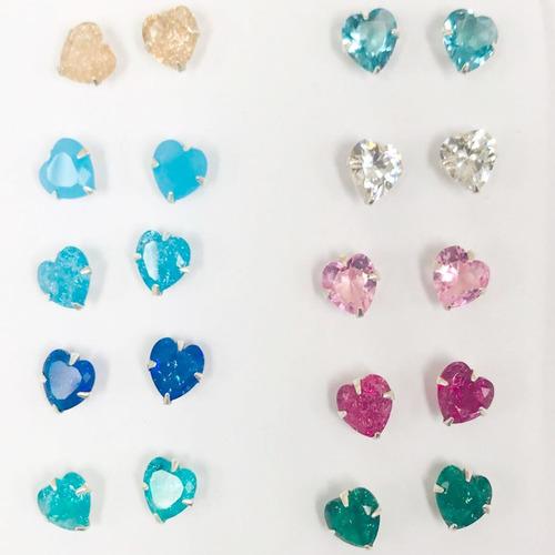 presente de amor conjunto colar e brincos prata pura coração