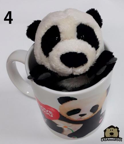 presente dia dos pais caneca com ursinho panda 15cm curitiba
