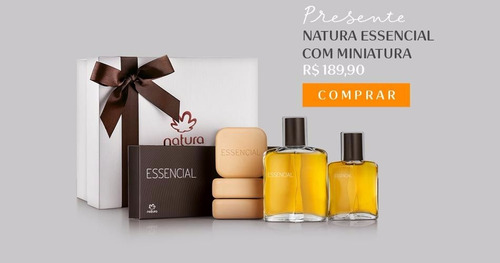 presente natura essencial com miniatura e sabonete lacrado