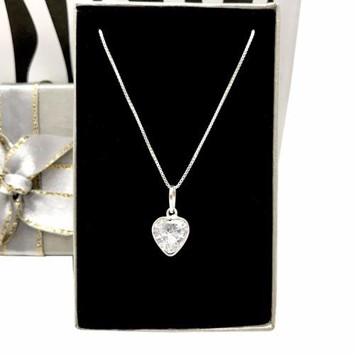 presente para amiga especial colar prata de lei com coração