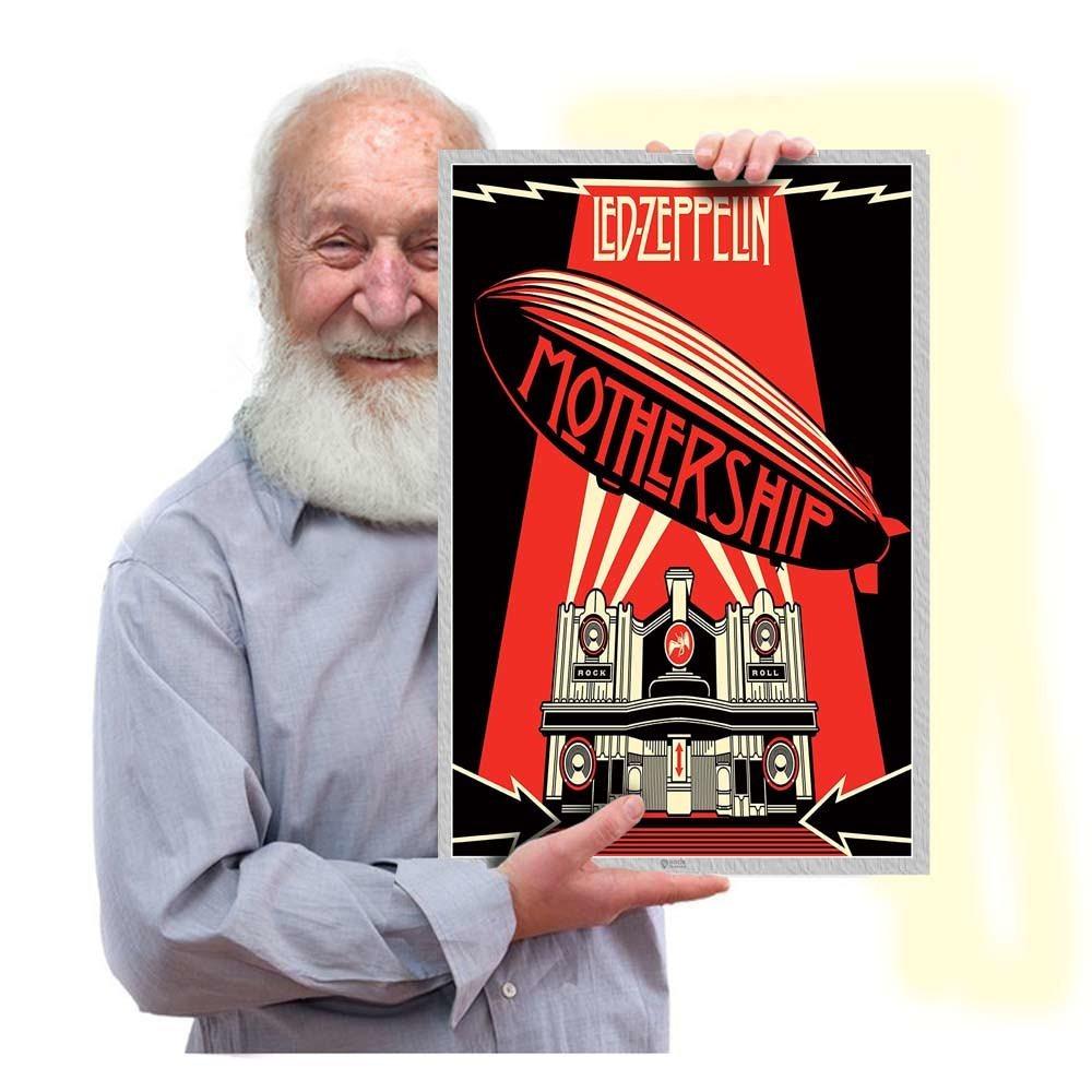 Presente Poster De Rock Led Zeppelin Blues Tam 42x29 Cm 02