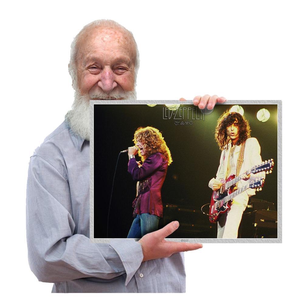 Presente Poster De Rock Led Zeppelin Blues Tam 42x29 Cm 29