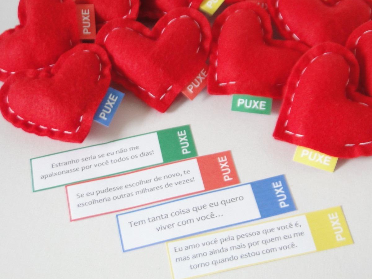 Presente Surpresa Namorada C100 Corações Cfrases De Amor R 199