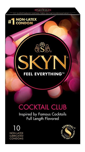 preservativo condon skyn no latex lifestyle cocktail sabores