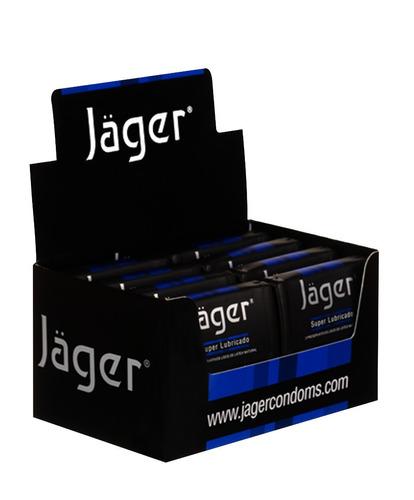 preservativos jäger - super lubricado - 8 estuches con 3 un.