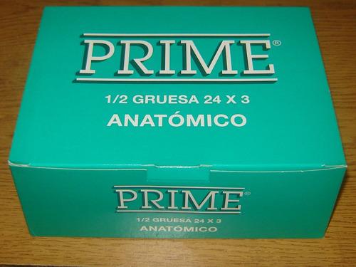 preservativos prime anatómico, 24 cajas con 3u c/u