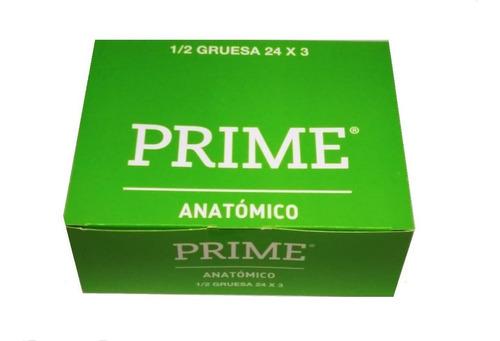 preservativos prime anatomico 24 cajitas x 3 menor ancho