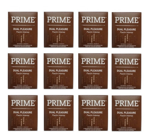 preservativos prime dual pleasure 12 cajitas x 3