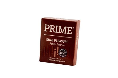 preservativos prime dual pleasure x72 unidades placer 2 en 1
