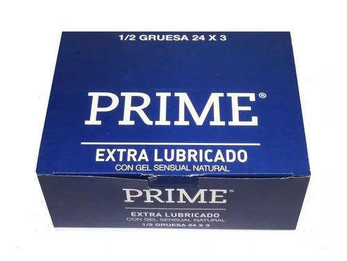 preservativos prime extra lubricado 24 cajitas x 3 unidades