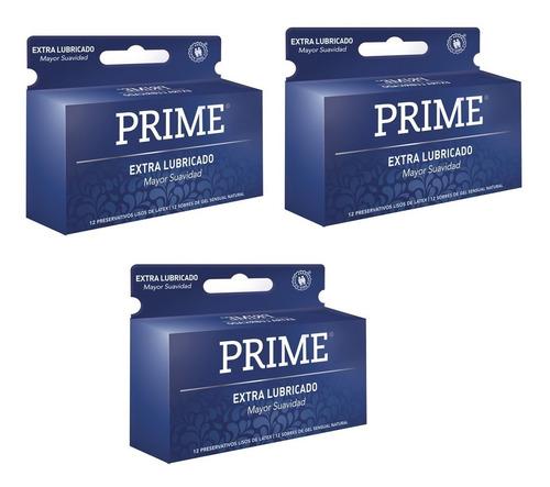 preservativos prime extra lubricado x36 unidades mas sedoso
