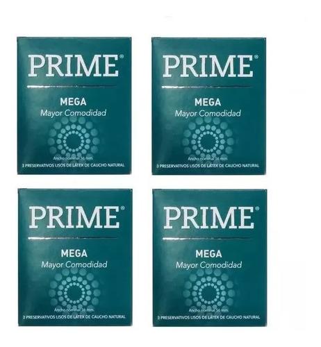 preservativos prime mega 4 cajitas x 3 mas anchos